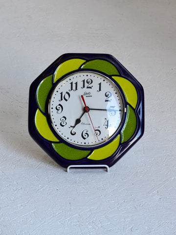 Vintage West German Ceramic Kitchen Wall Clock