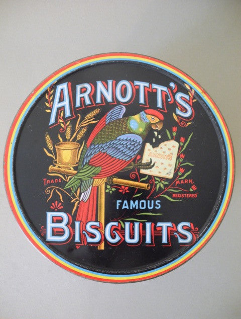 Parrot Tin Arnotts Biscuit
