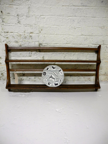 Ercol Wall Plate Rack in Medium Teak