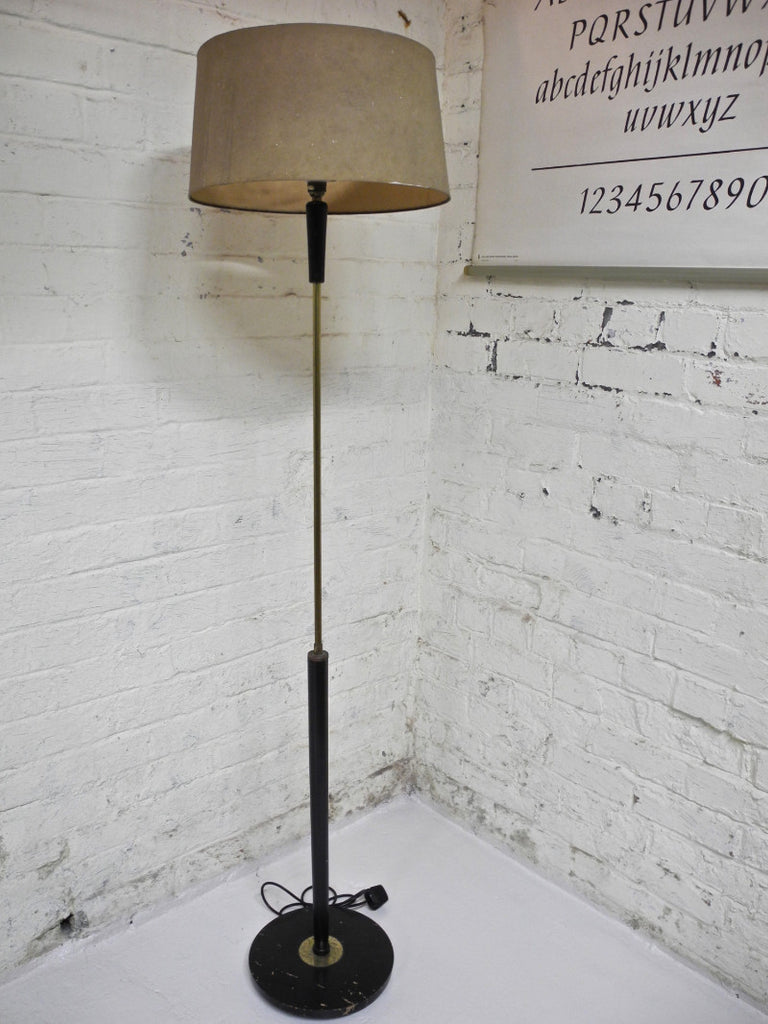 Atomic Standard Lamp Brass Wood German