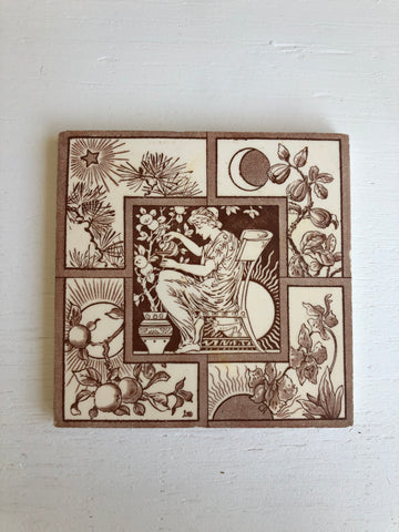 English Garden Victorian Tile Four Seasons