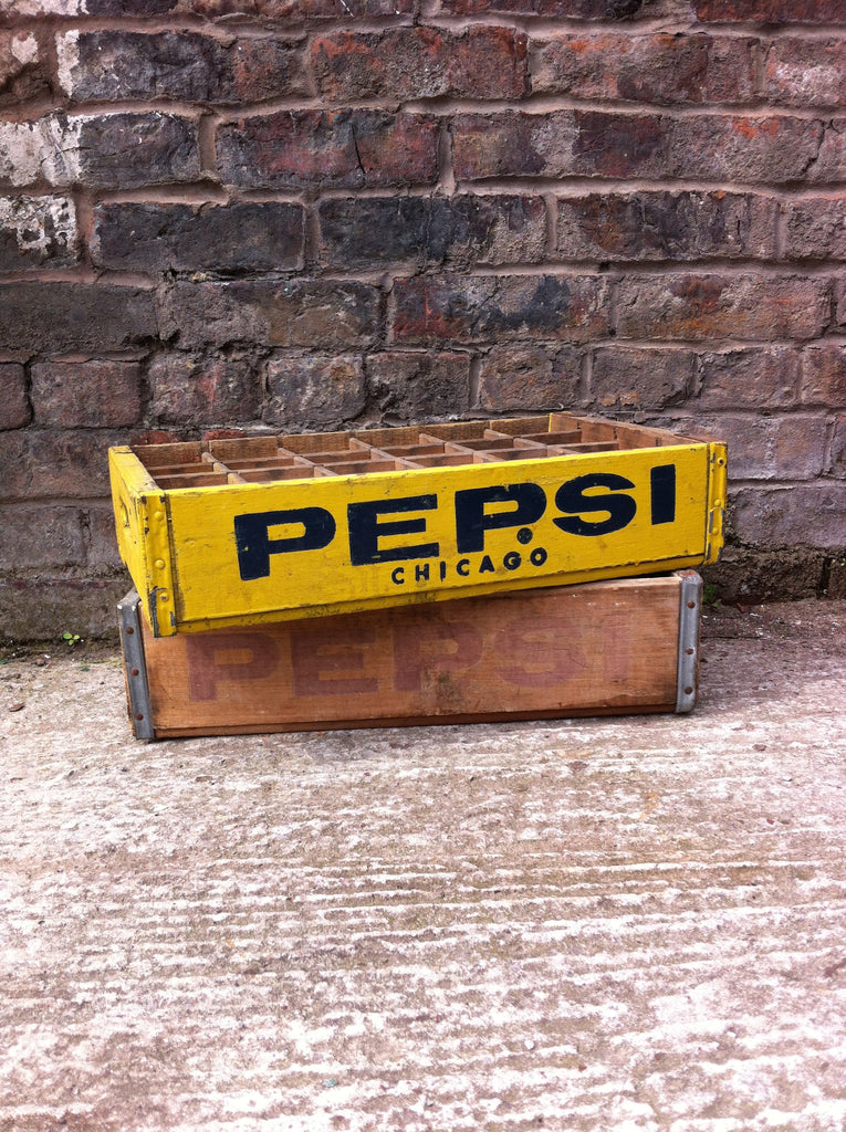 yellow vintage pepsi crate Chicago