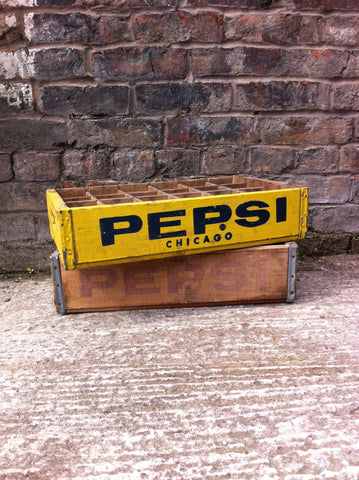 Chicago Yellow Vintage Pepsi Crate