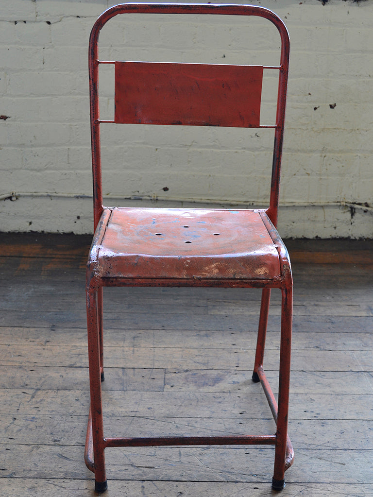 Utilitarian French Stacking Chair