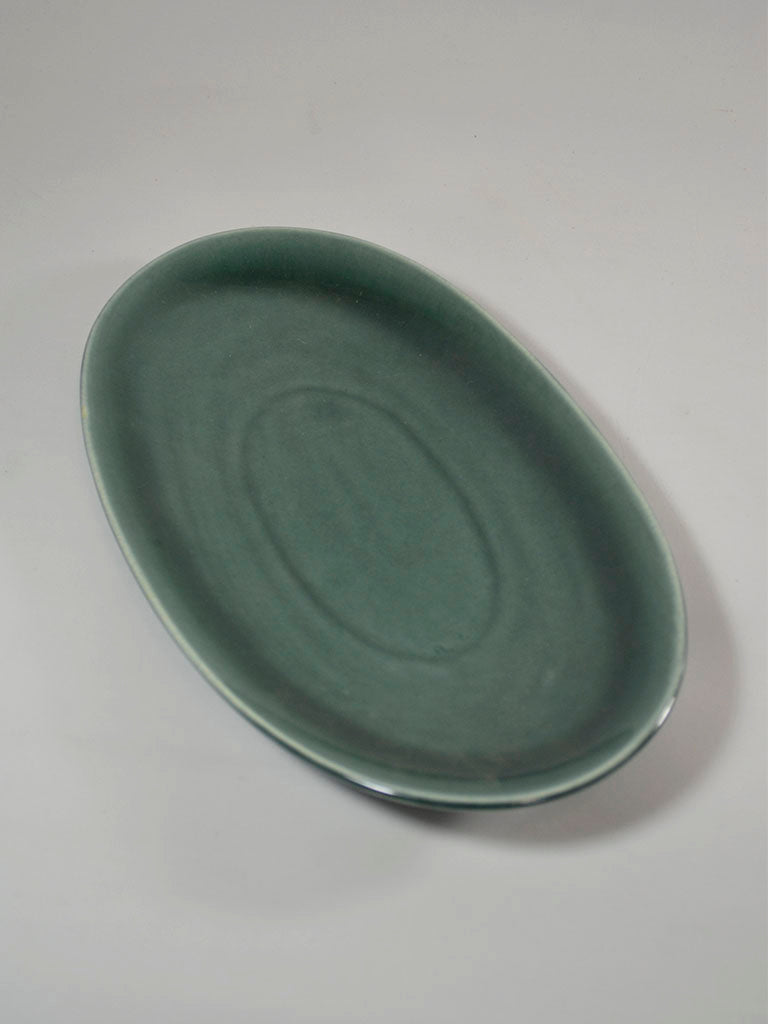 Russel Wright for Steubenville Seafoam-Coloured Oval Platter