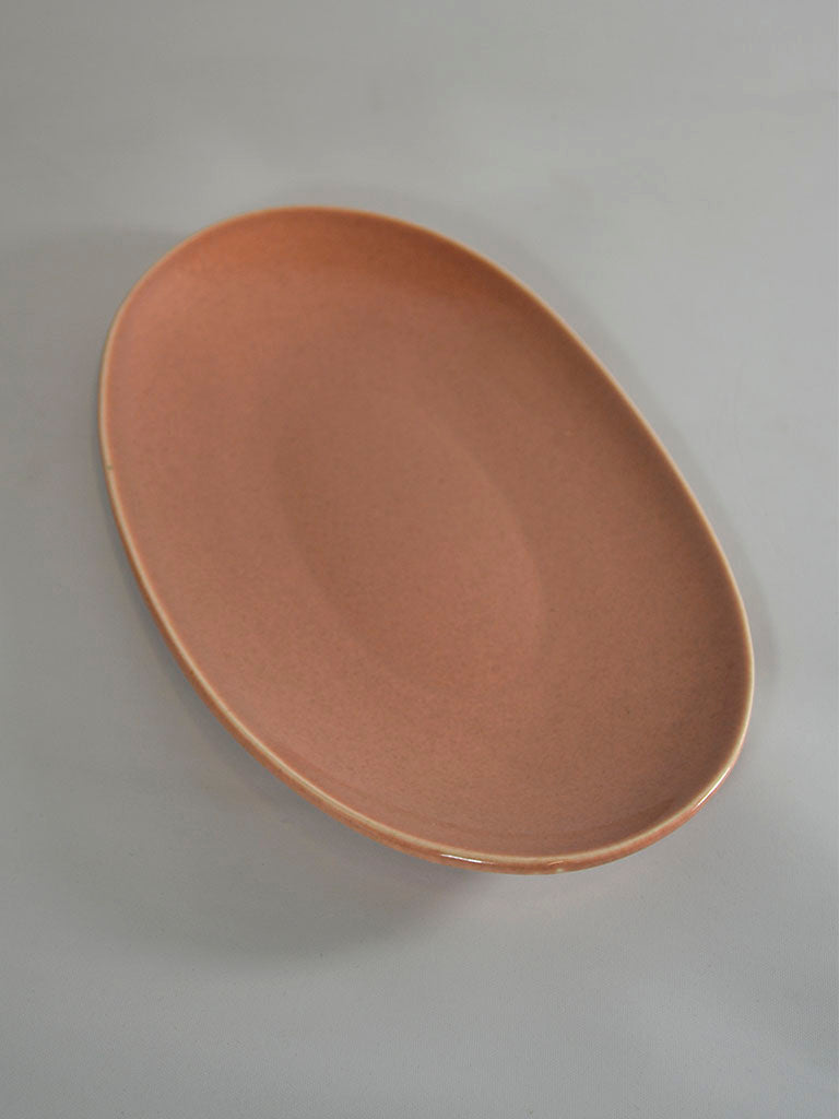 Russel Wright Platter American Modern Coral