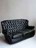 Classic Green Leather Chesterfield Sofa