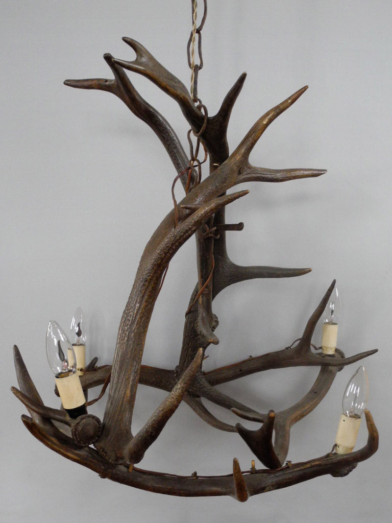 Antique Victorian Antler Chandelier Candles