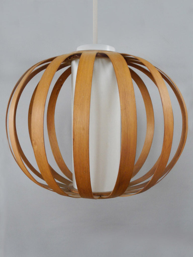 Bentwood Strips Vintage Pendant Globe Shade