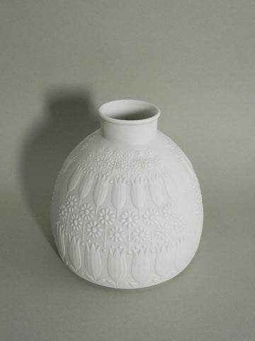 Floral White Bisque Vase
