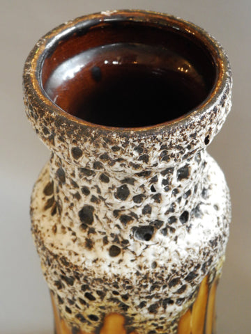 Mottled Fat Lava Vase
