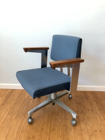 Harter Slim Steel Swivel Desk Chair