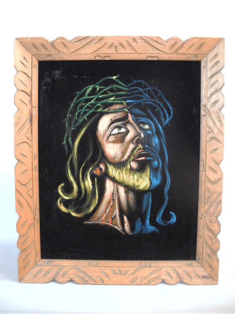 black velvet Jesus mexican painting