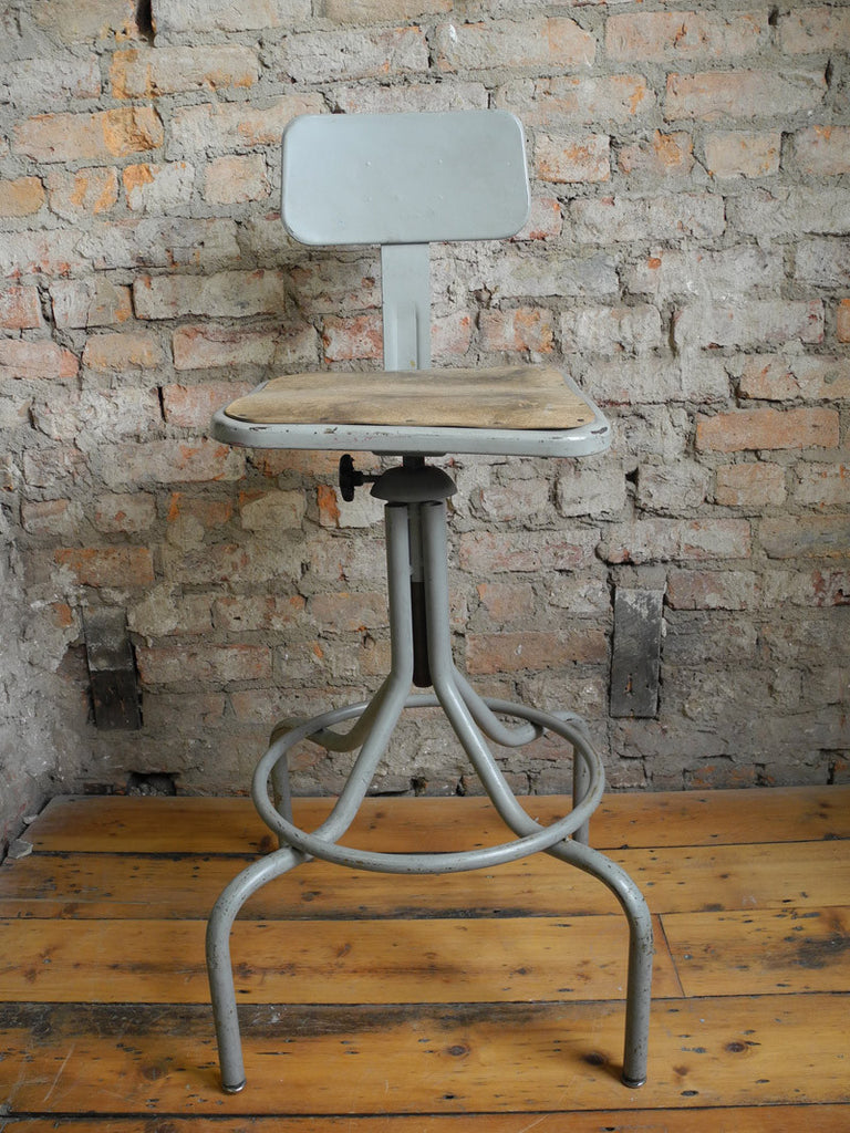 industrial stool with back