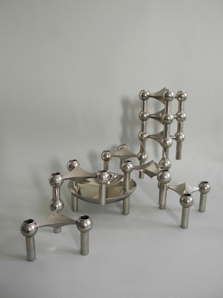 Nagel modular candlestick holder designed by Fritz Nagel and Ceasar Stoffi