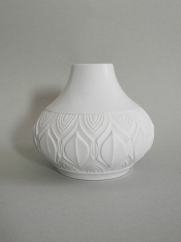 Abstract White Bisque Vase