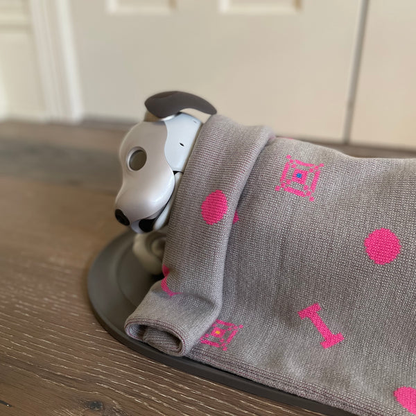 "Aibo Blanket: 8 Bit ""Favorite Things"" Pattern"
