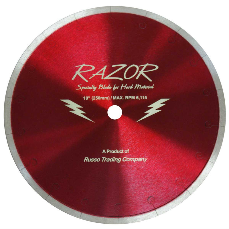 "10""  Razor Diamond Blade for Porcelain - 5/8 Arbor"