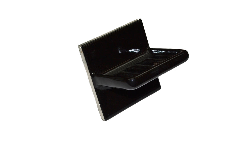 "Sink Soap Dish - Black - 4 1/4"" x 4 1/4"" - Thinset Mount"
