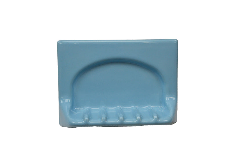 "Tub Soap Dish - Blue 4"" x 6"" - Thinset Mount"
