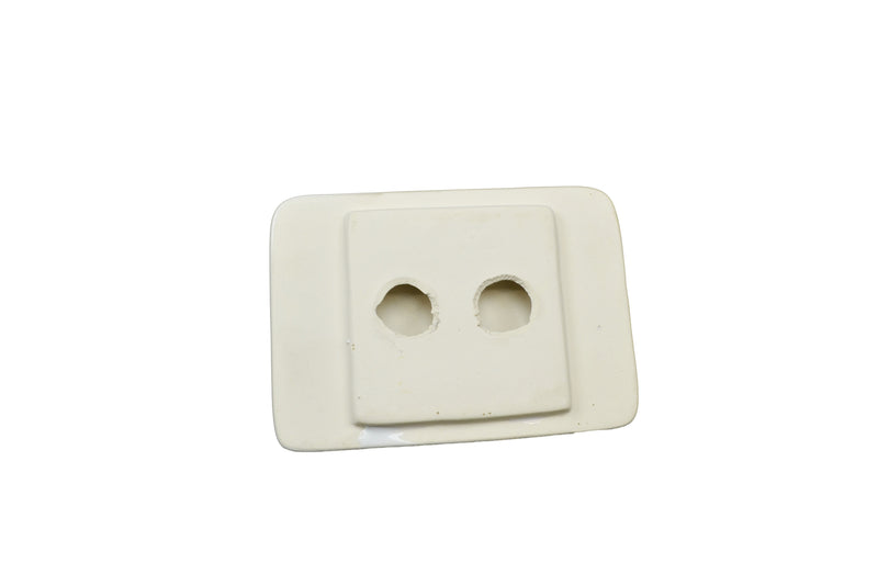 "Tub Soap Dish - White 4""x6"" - Thinset Mount"
