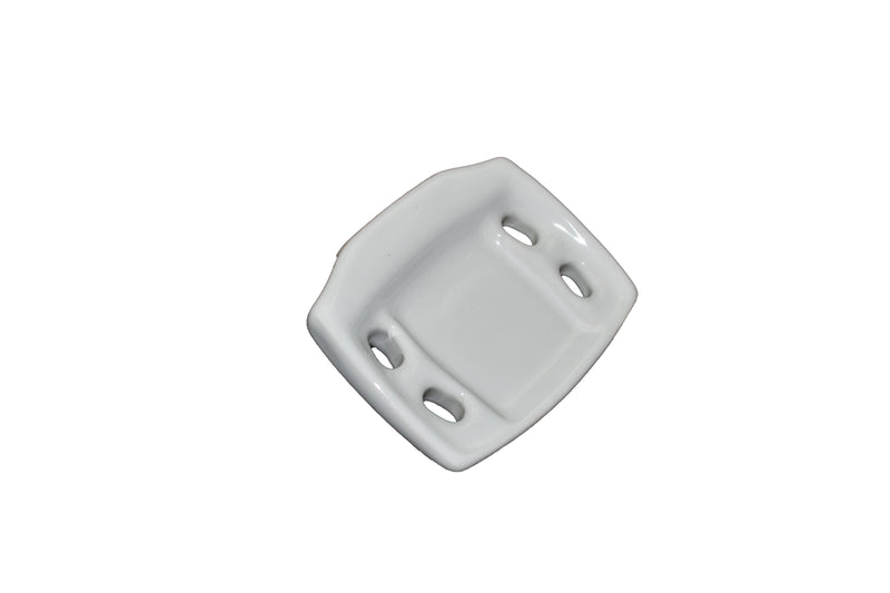 "Tooth and Tumbler - White 4 3/8"" x 3 1/2"" - Clip-on Mount"