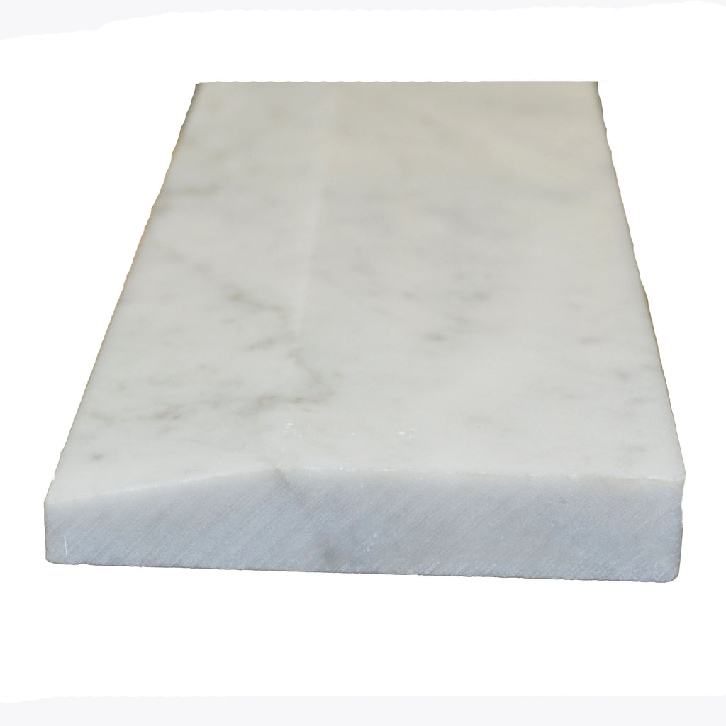 "36"" x 6"" Hollywood White Carrara Saddle"