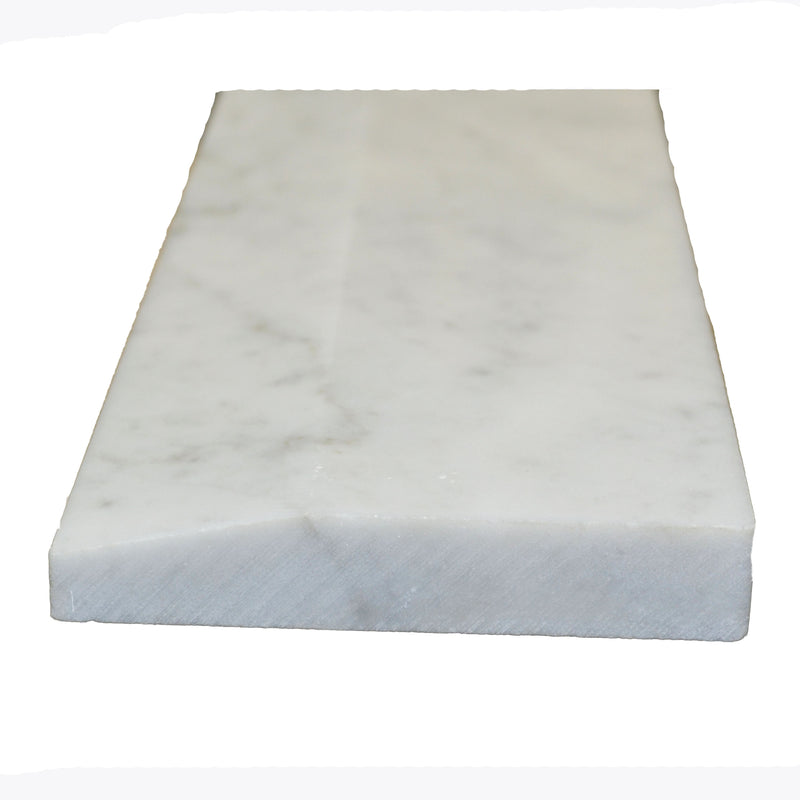 "36"" x 4"" Hollywood White Carrara Saddle"