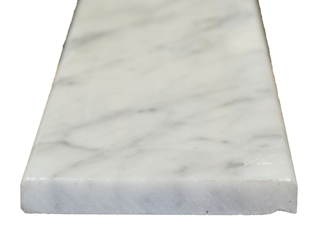 "36"" x 5"" x 5/8"" White Carrara Saddle"
