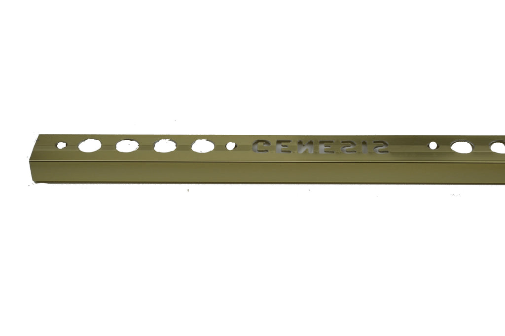 "3/8"" x 8' Metal Trim L Shape Gold (10mm)"