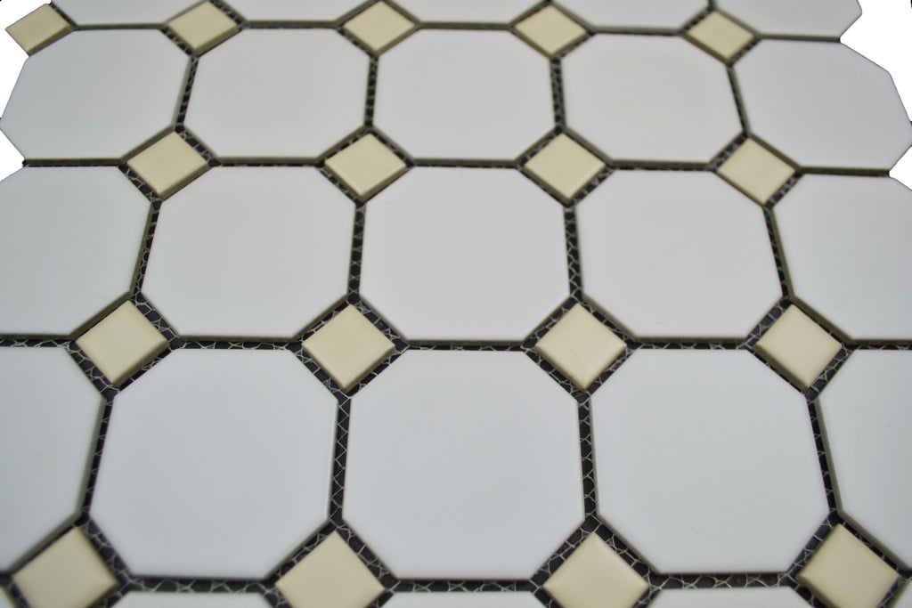 "2"" Octagon With Bone Dot"