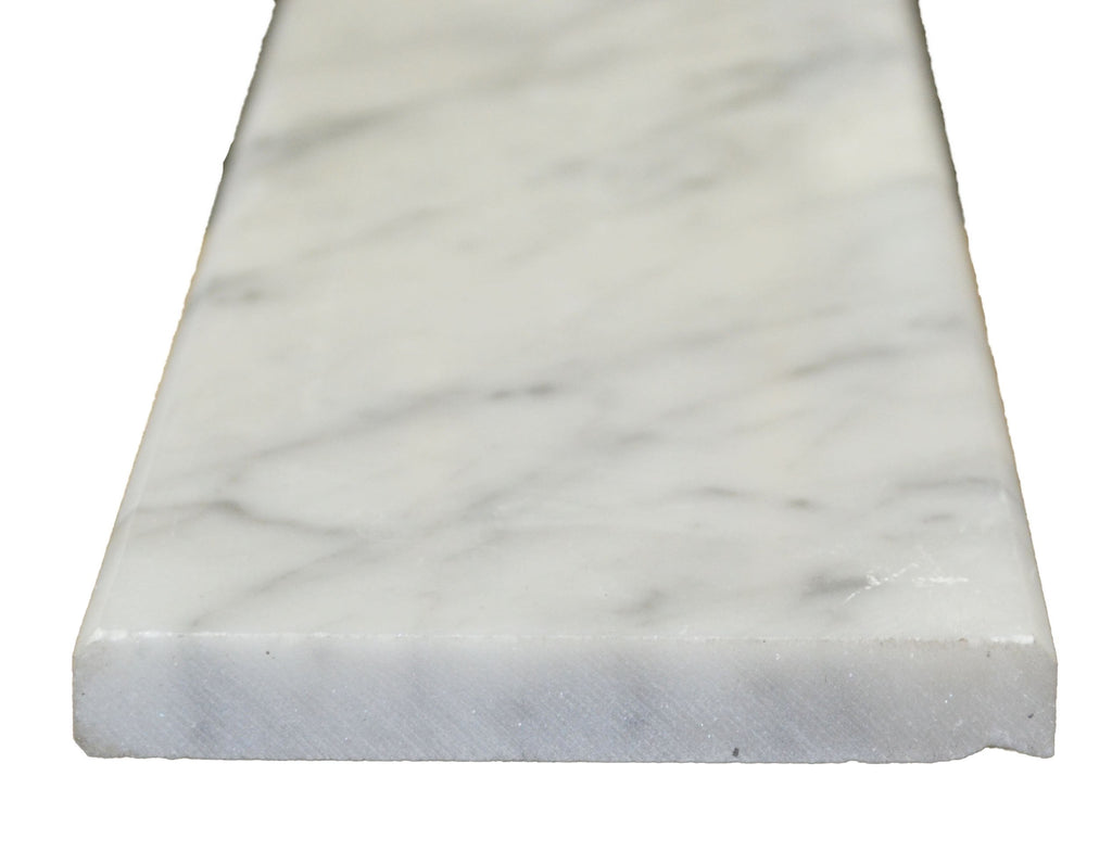 "24"" x 4"" x 3/4"" White Carrara Saddle"