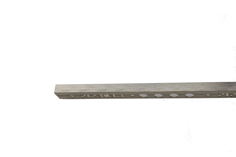 "3/8"" x 8' Metal Trim L Shape Nickel (10mm)"