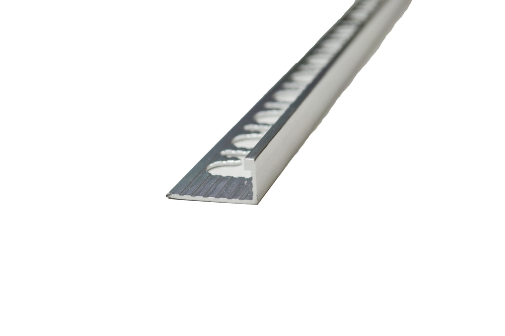 "5/16"" x 8' Metal Trim L Shape Silver (8mm)"