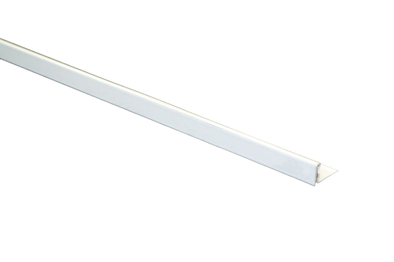 "1/2"" x 8' Metal Trim L Shape White (12mm)"