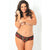 Rene Rofe - Crotchless Lace Thong with Bows 1X/2 (Red) | Zush.sg