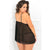 Rene Rofe - Micro Manage Chemise Set 1X/2 (Black)