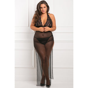 Rene Rofe - All Out There 2 Pieces Gown Set Costume 3X/4 (Black) | Zush.sg