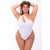 Pink Lipstick - Off The Wall Seamless Bodysuit Costume 1X/2 (White)