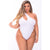 Pink Lipstick - Off The Wall Seamless Bodysuit Costume 1X/2 (White) | Zush.sg