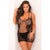 Rene Rofe - Lace And Net Strap Dress Costume Queen (Black) | Zush.sg