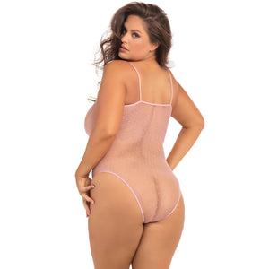 Rene Rofe - Undone See Through Bodysuit Costume Queen (Pink)