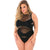 Pink Lipstick - X Rated Seamless Bodysuit Costume Queen (Black)