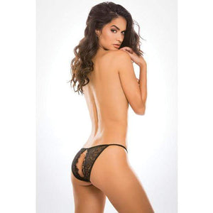 Allure Lingerie - Adore Lace Enchanted Belle Panty O/S (Black) | Zush.sg
