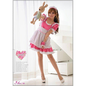 Anna Mu - 4 Pieces Cherry Maid Costume Set NA14030035 (Pink) | Zush.sg