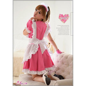 Anna Mu - 4 Pieces Cherry Maid Costume Set NA14030035 (Pink) | CherryAffairs Singapore