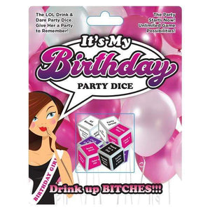 Ball & Chain - It's My Birthday Party Dice (Multi Colour) | CherryAffairs Singapore