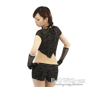 BeWith - Solid Gear Army Costume (Black) - Zush.sg