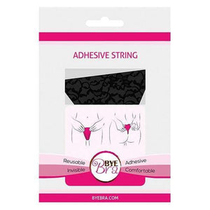 Bye Bra - Adhesive Invisible G String Lace O/S (Black) | CherryAffairs Singapore