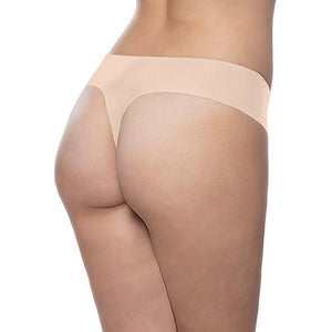 Bye Bra - Soft Seamless Invisible G String 2 Pcs M (Nude/Black) | CherryAffairs Singapore